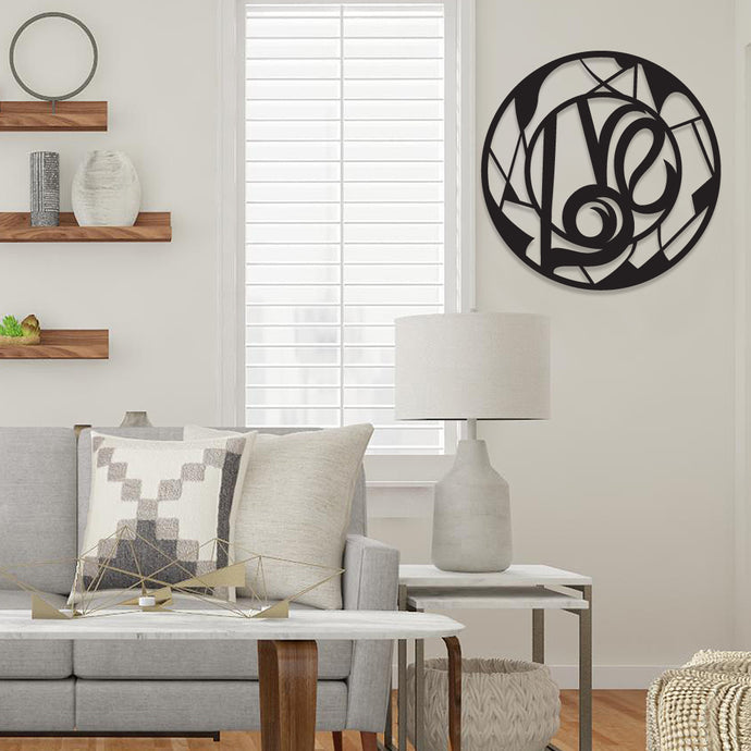 Love Circle Metal Wall Art