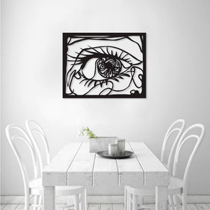 Mysterious Eyes Metal Wall Art