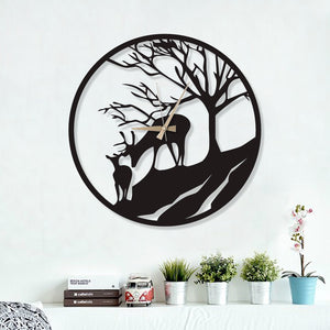 Two Deers Clock
