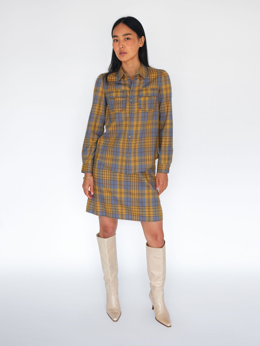 Vintage APC checked twin set preclothed
