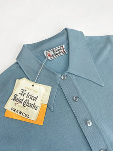 Vintage knit polo shirt