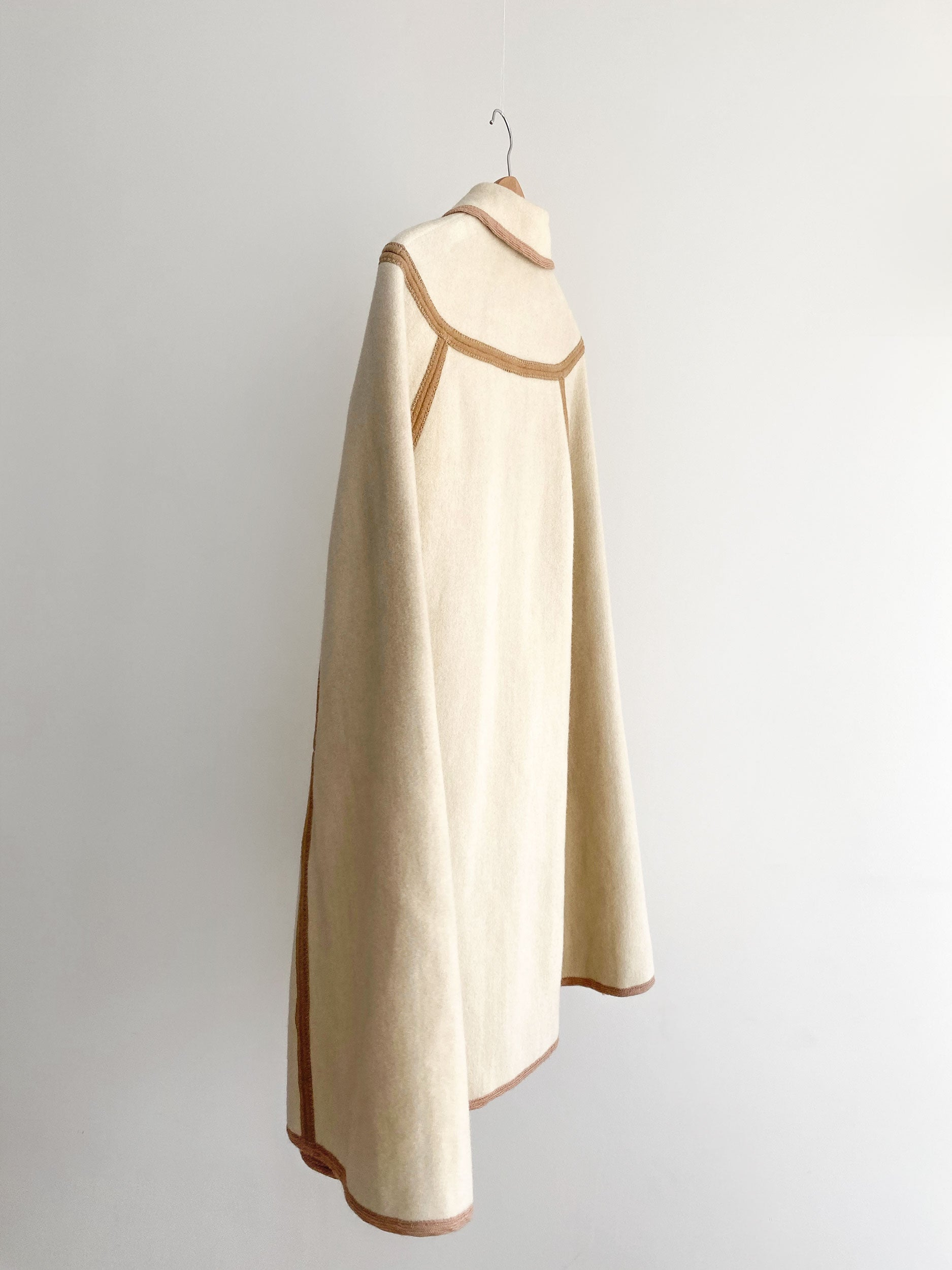 Vintage reversible wool cape