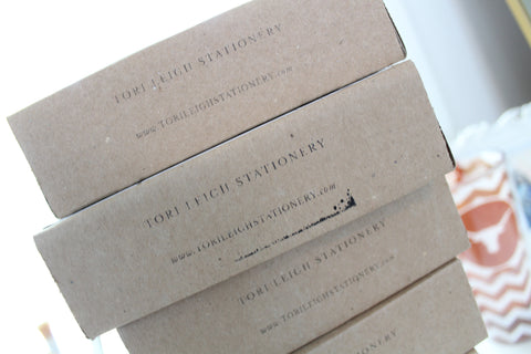 sustainable packaging wedding invitation shipping