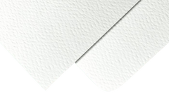 Textured white uncoated wedding invitation paper hammered texture sustainable recycled