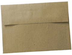 brown kraft paper bag square flap envelope wedding invitation