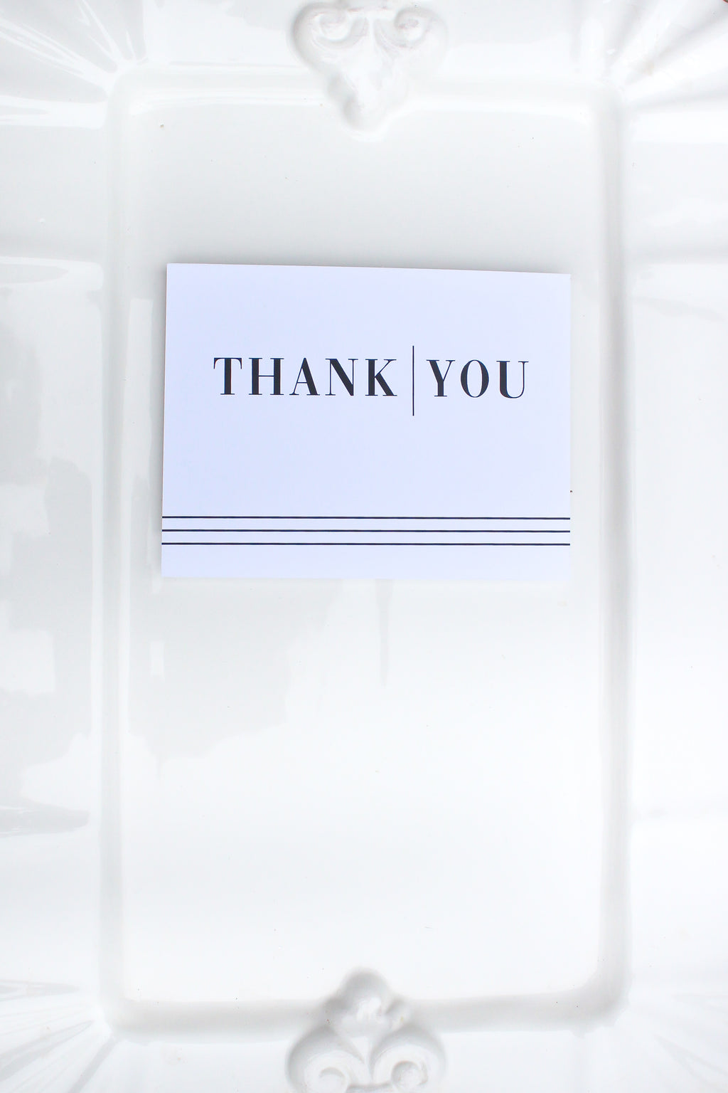 Bridgehampton Plain Thank You Notecards