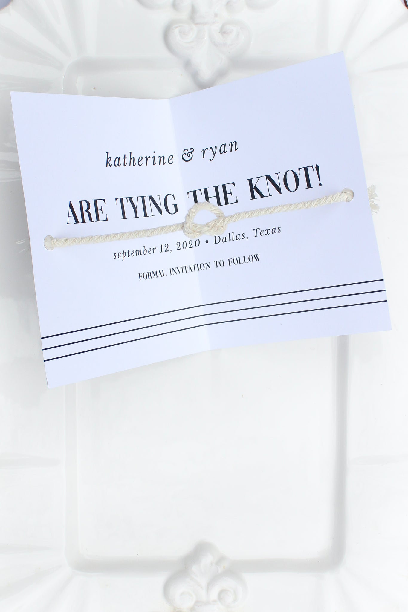 Bridgehampton Tie the Knot Save the Dates