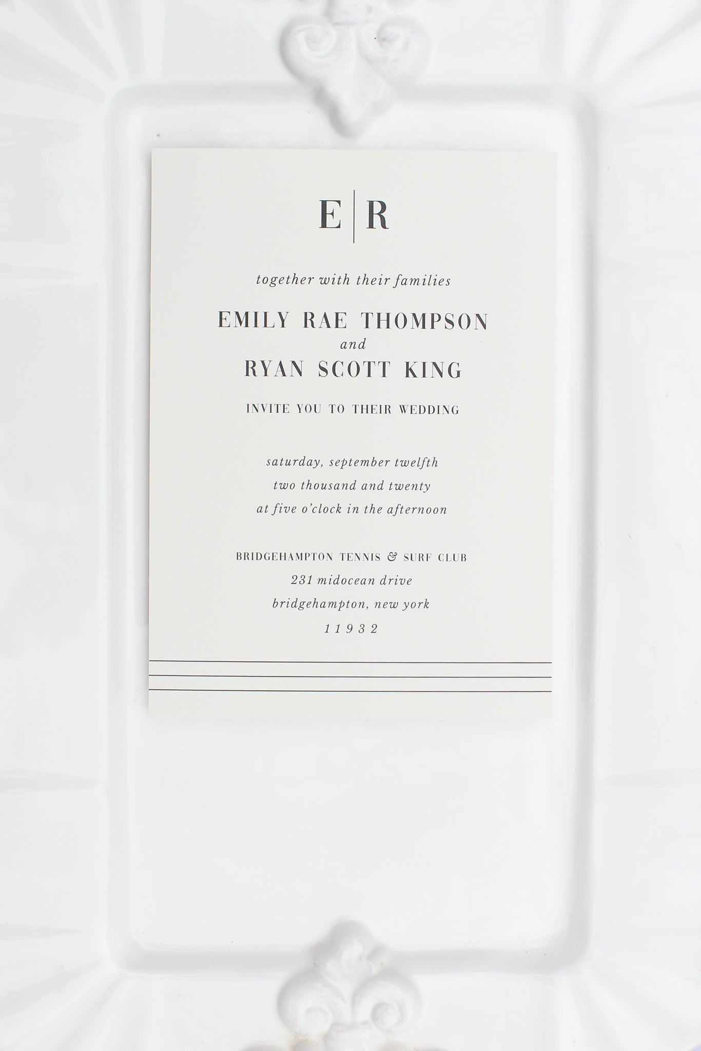 Bridgehampton Wedding Invitations
