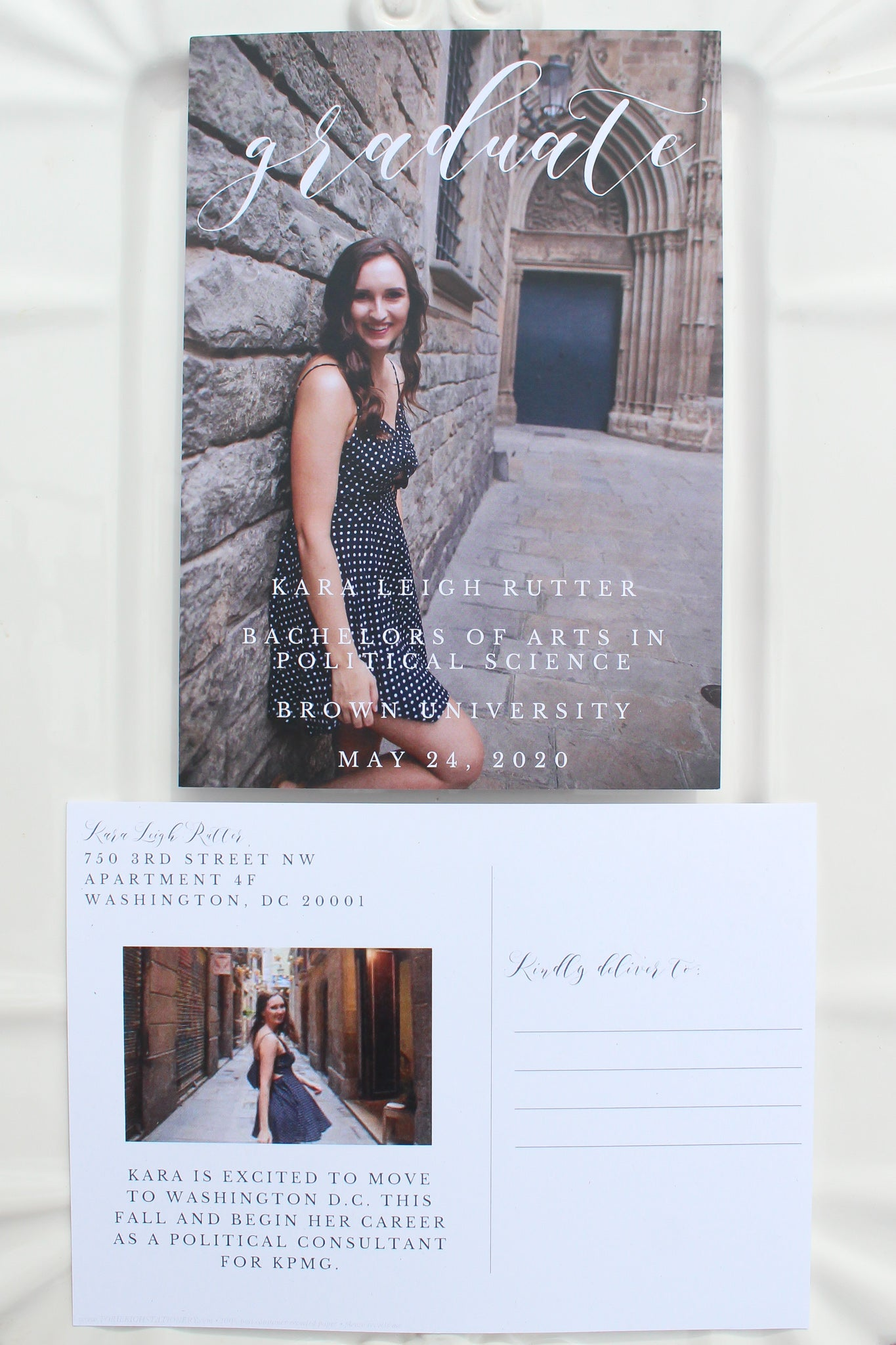 Highland Graduation Announcement Postcards