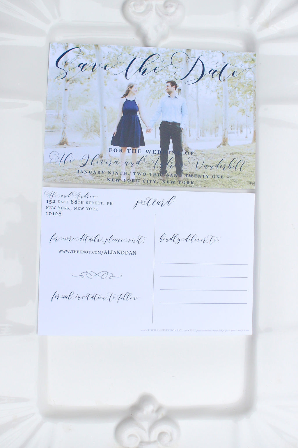 Highland Save the Date Photo Postcard