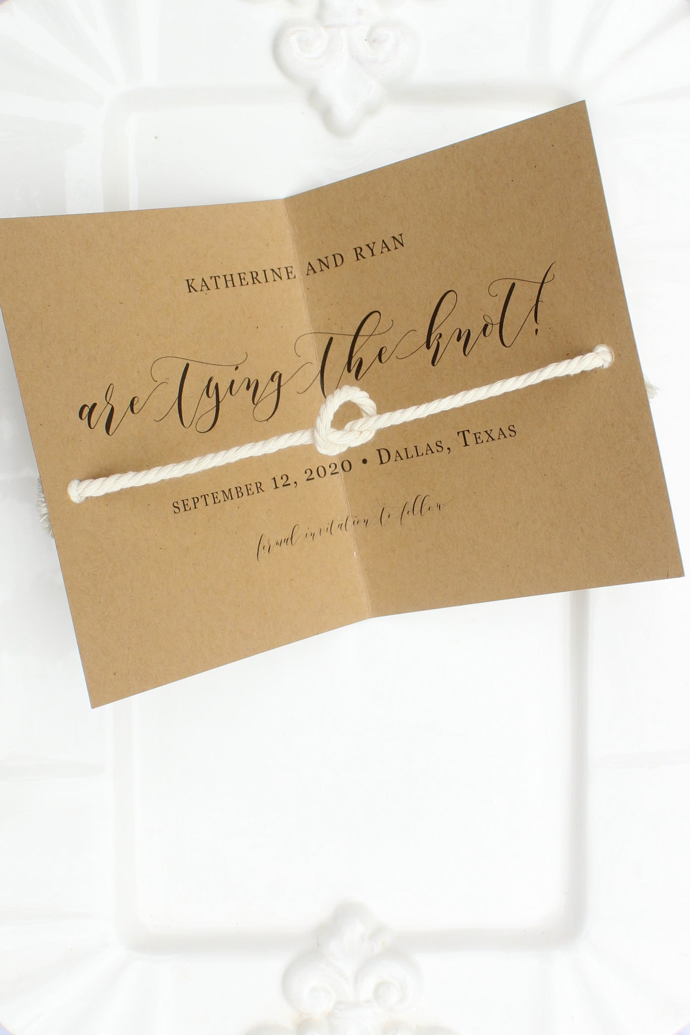 Highland Tie the Knot Save the Dates