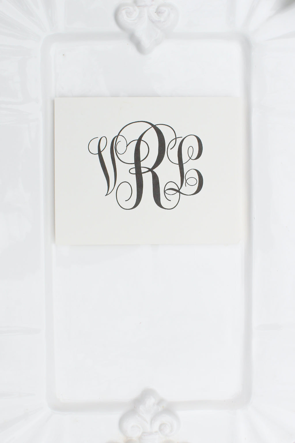 Personalized Notecards with Large Monogram