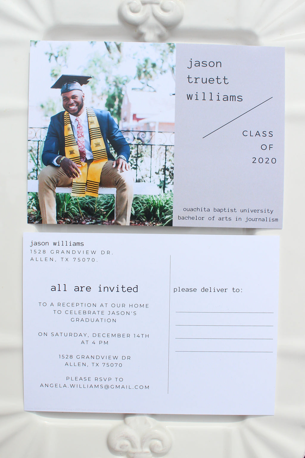 Malmö Graduation Announcement Postcards