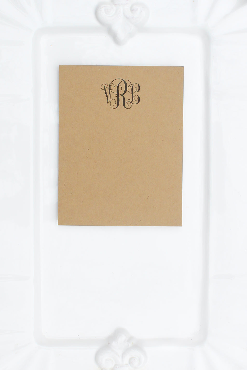 Personalized Notecards with Small Monogram