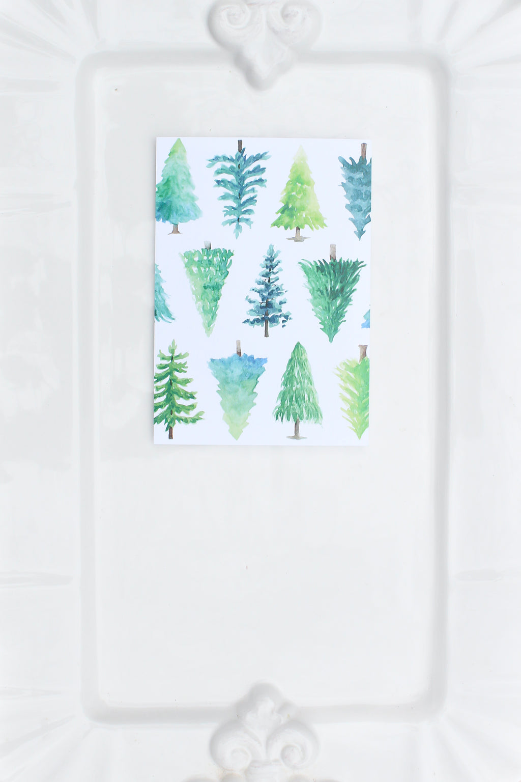 Watercolor Christmas Tree Notecards