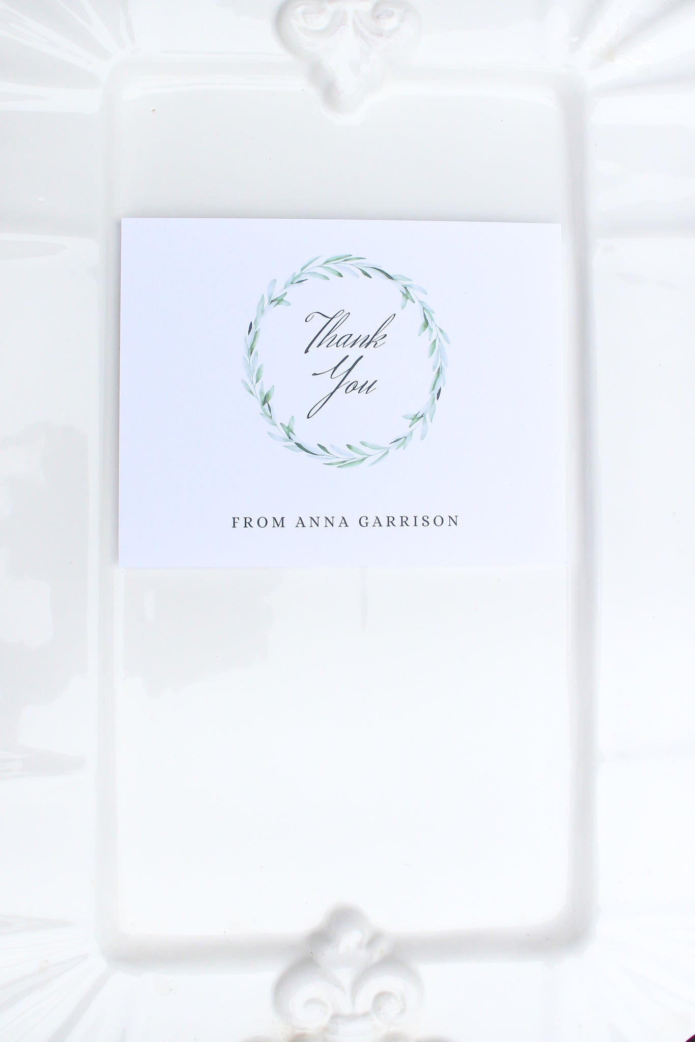 Olive You Personalized Thank You Notes