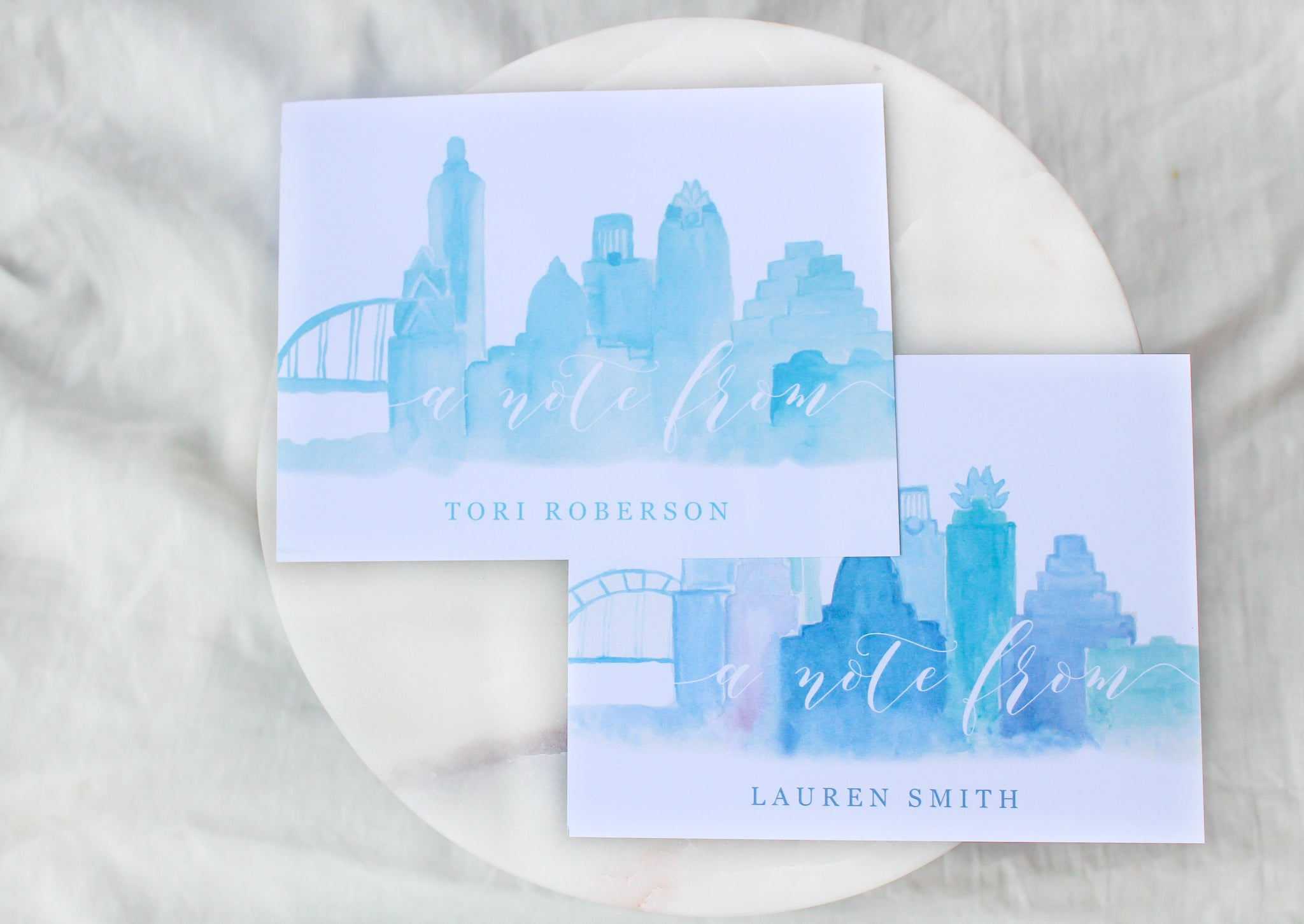 Austin Skyline 'A Note From' Personalized Notecards