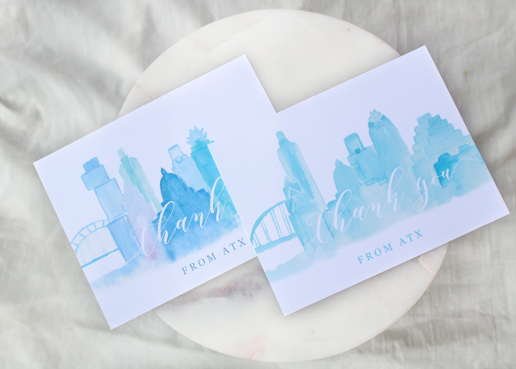 Austin Skyline 'Thank You From ATX' Notecards