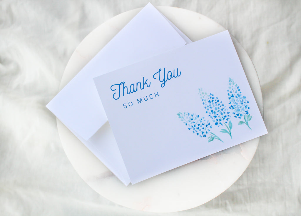 Bluebonnet 'Thank You So Much' Thank You Cards