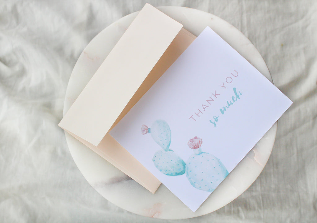 Cactus 'Thank You So Much' Thank You Cards