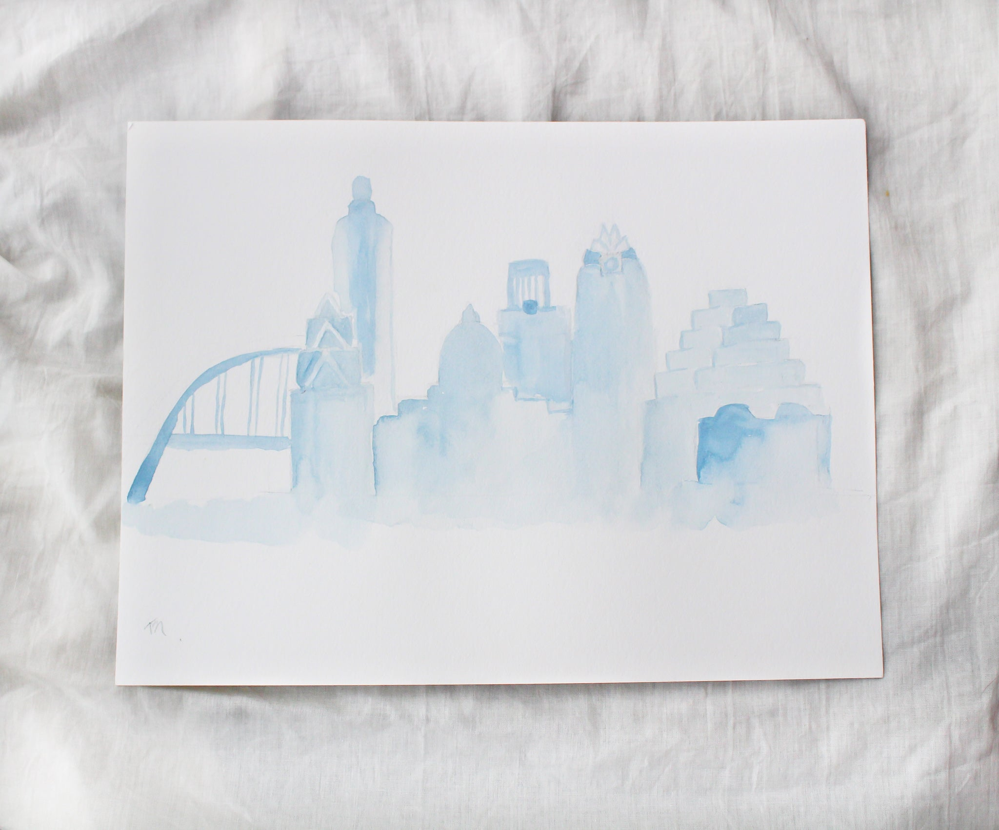 Austin Skyline Personalized Thank You Cards