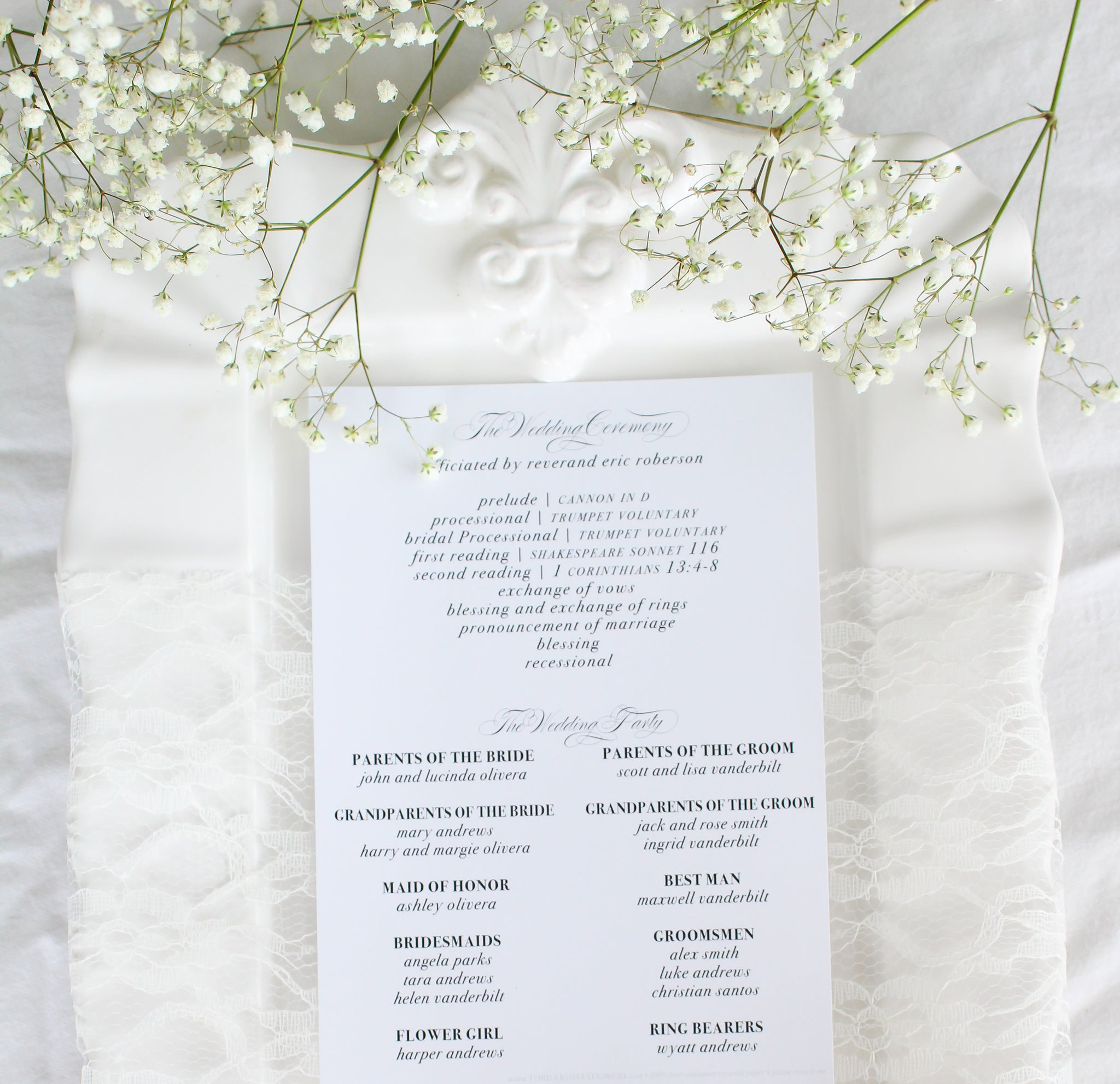 Valencia 5x7 Wedding Programs