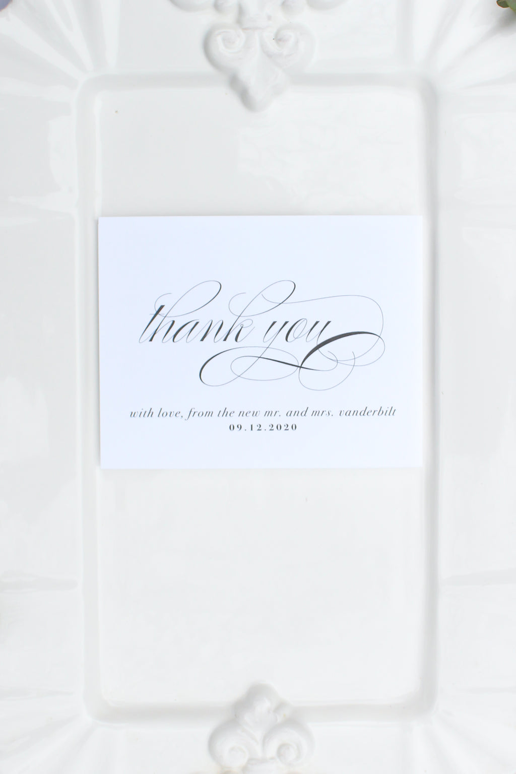 Valencia Personalized Wedding Thank You Cards