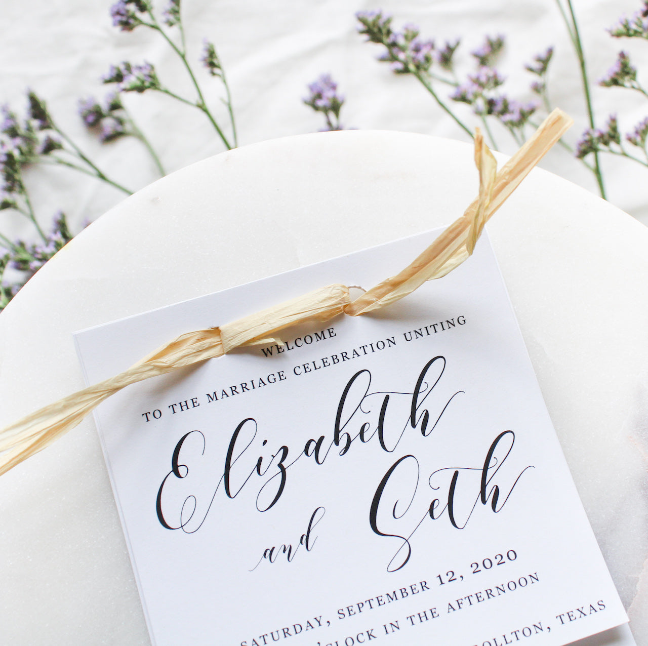 Highland Layered Wedding Programs