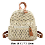 Straw Mini Backpack - ethnic-ville-shop