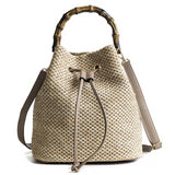 Bamboo Handle Knitting Bag - ethnic-ville-shop