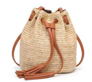 Knitted Bohemian Straw Bag - ethnic-ville-shop