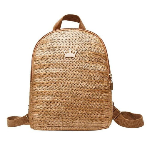Straw Woven Travel Backpack - ethnic-ville-shop