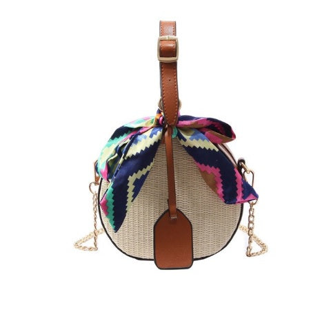 Boho Straw Shoulder Bag - ethnic-ville-shop