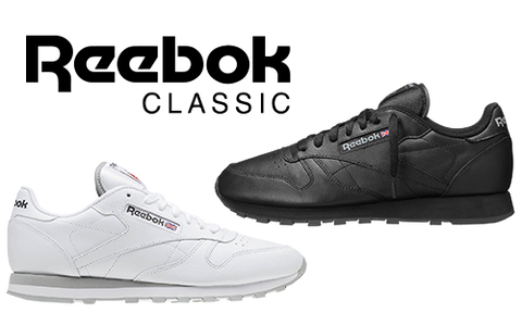 Reebok Classic Trainers - Leather Black White