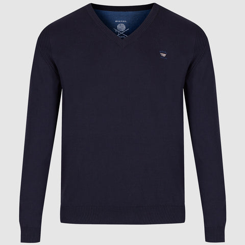 Diesel K Benti V Neck Jumper - Navy