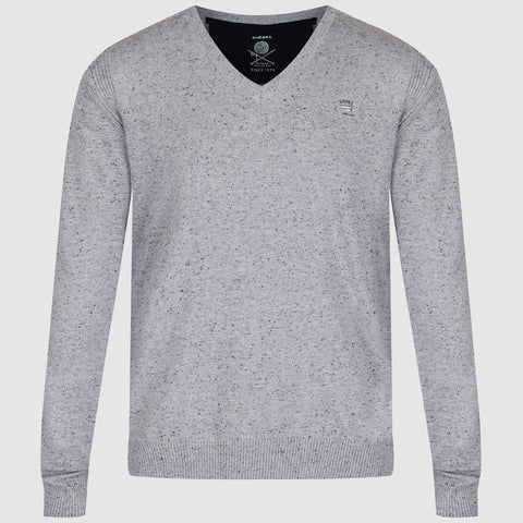 Diesel K Benti V Neck Jumper - Grey