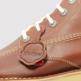 Kickers Kick Hi Classic Boot - Dark Tan - logo