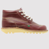 Kickers Kick Hi Classic Boot - Dark Red - side