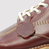 Kickers Kick Hi Classic Boot - Dark Red - logo