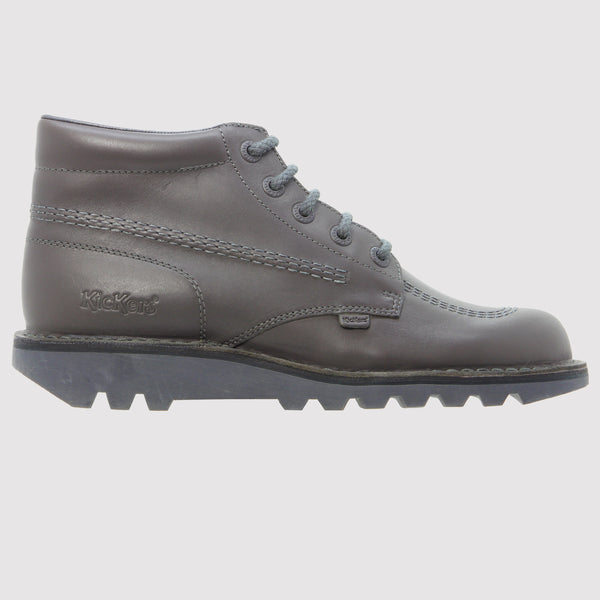 Kickers Kick Hi Leather Boots - Grey