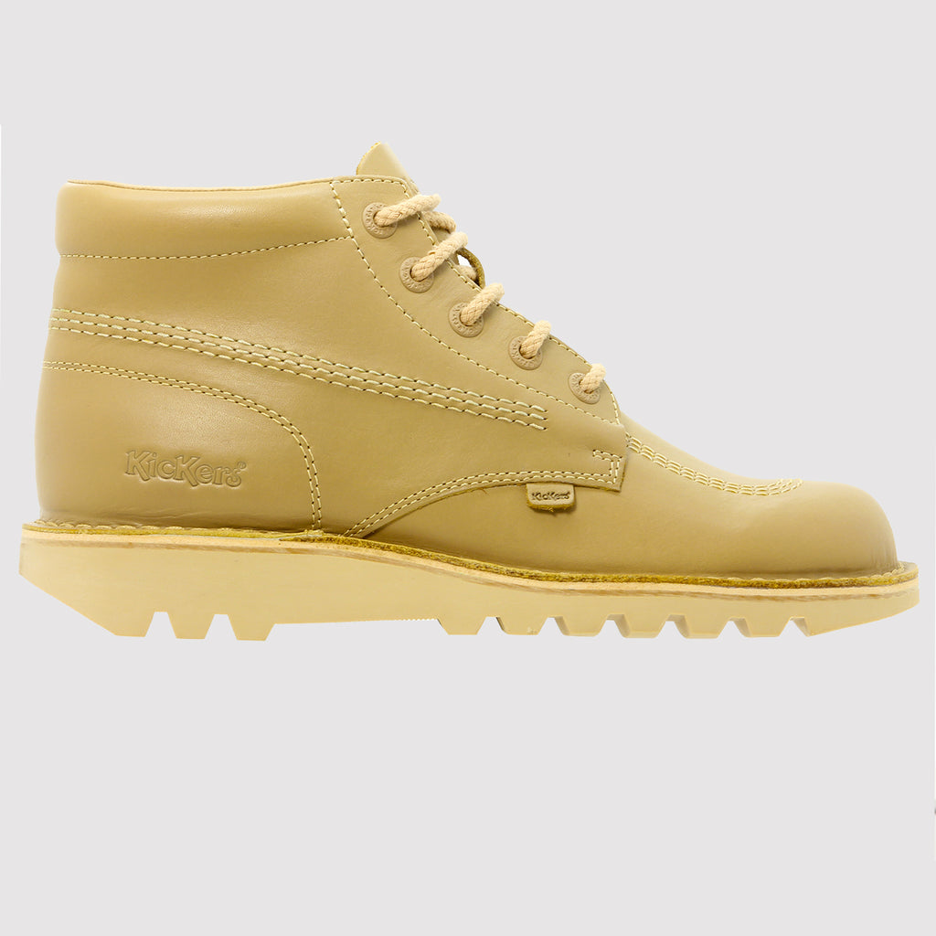 Kickers Kick Hi Leather Boots - Light Tan - side