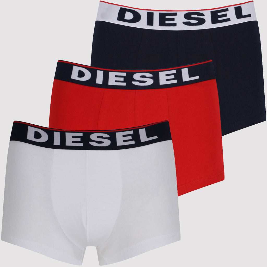 Diesel Boxer Trunks Set - Red / Navy / White