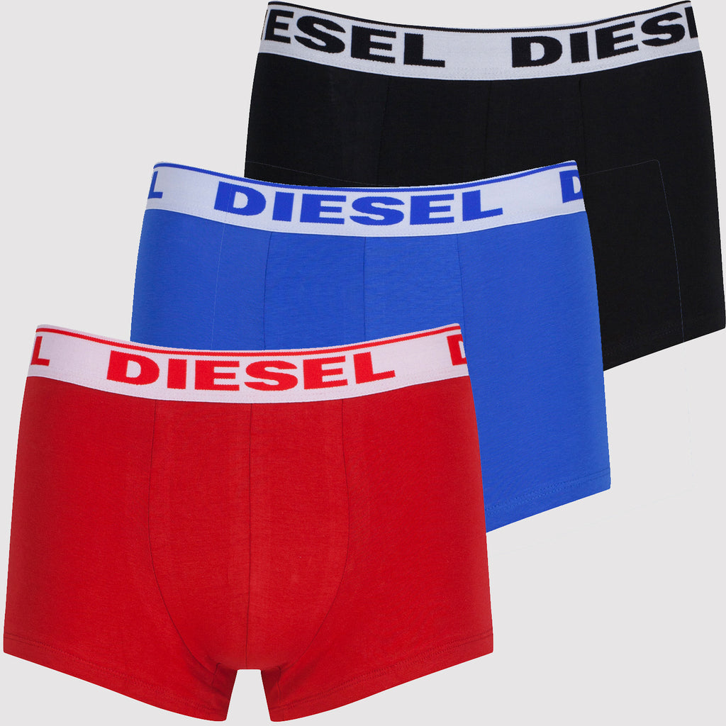 Diesel Boxer Trunks Set - Blue / Red / Black