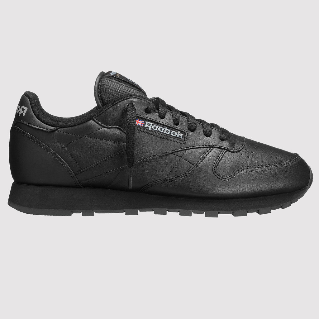 Reebok Classic Leather Trainers - Black - Side