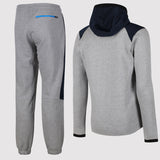 Nike Hybrid Fleece Tracksuit - Grey/Blue - Back
