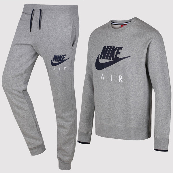 Nike Air AW77 Heritage Fleece Tracksuit - Grey - Front