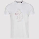Luke 1977 Cross Stitch Lion Printed T Shirt - White - Front