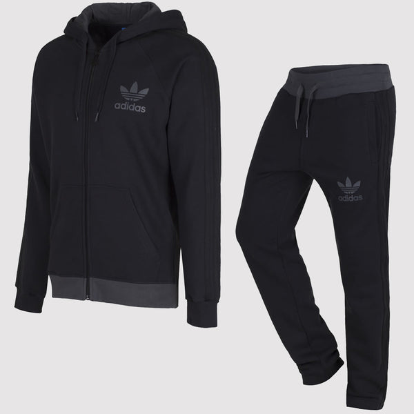 adidas Originals SPO Fleece Suit Black - Full View