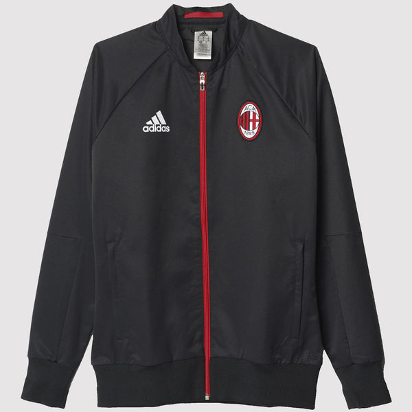 adidas AC Milan Anthem Jacket - Black - Front