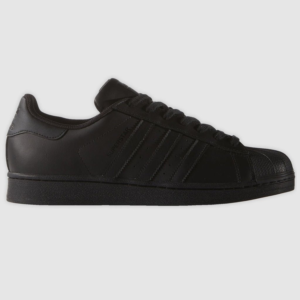adidas Originals Superstar Trainers - Black - side